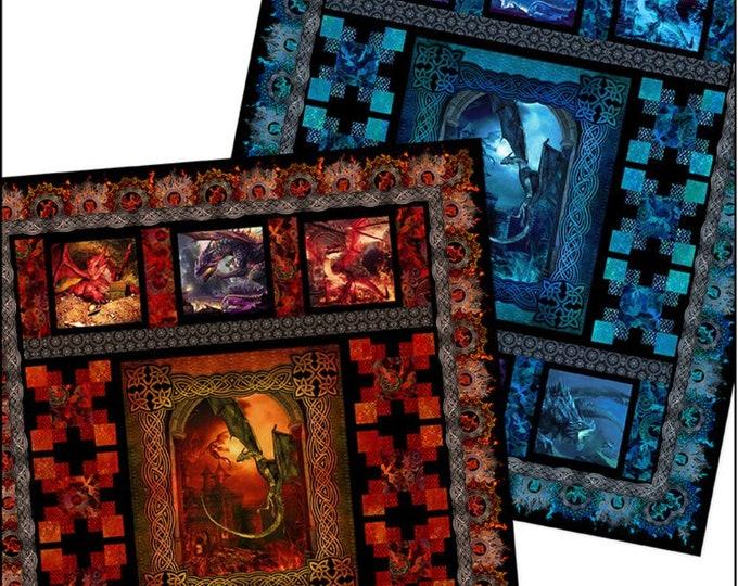 "Pattern - In the Beginning Fabrics -  Dragon Quilt 76"" x 92"""