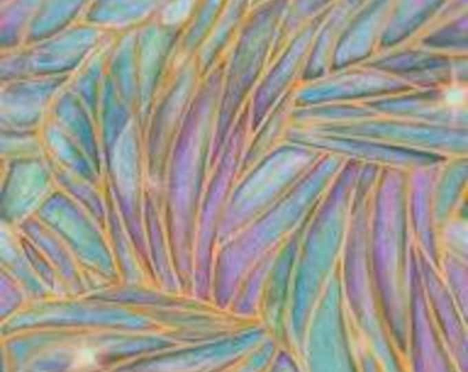 SALE !!!!  Light Stained Glass Liz Dillon -DREAMLAND Cotton Fabric by Quilting Treasures