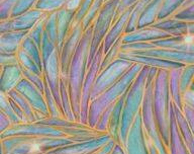 SALE !!!! By The Yard, Light Stained Glass Liz Dillon -DREAMLAND Cotton Fabric by Quilting Treasures  - Price per yard !