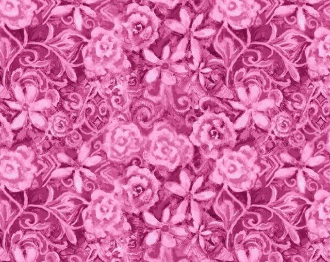 Blank Quilting - Papillon Parade by Janice Gaynor - Pink Tonal Floral #9369-22 Cotton Woven Fabric