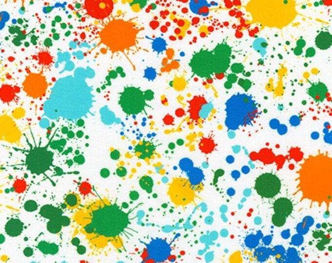 """Bright Splatter 108"""" wideback SRKXD-18147-195 - Quilt Backing by Robert Kaufman - Cotton Woven Fabric"""
