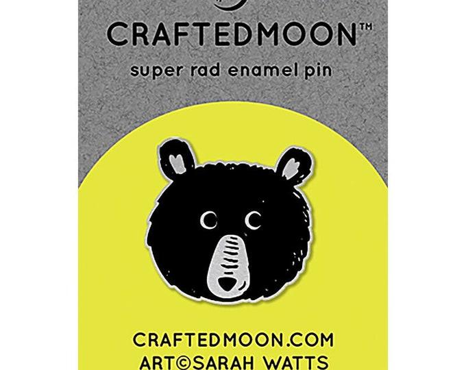 """Fun Stuff -Moda Fabrics -  Ruby Star Society CRAFTEDMOON Enamel Pins - Teddy CM ENP 011 - 1.5"""""""