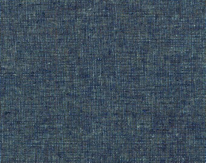 Robert Kaufman Fabric - Essex Yarn Dyed Metallic E105-25 OCEAN Linen