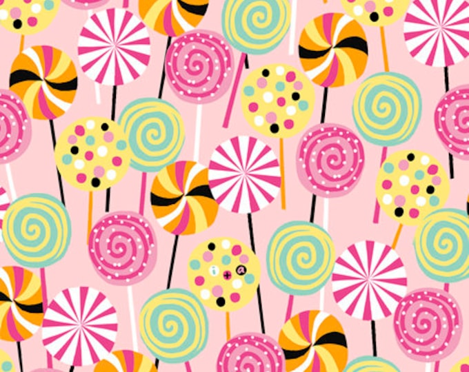 Quilting Treasures - Sugar Rush - Pink Lollipops Cotton Woven Fabric