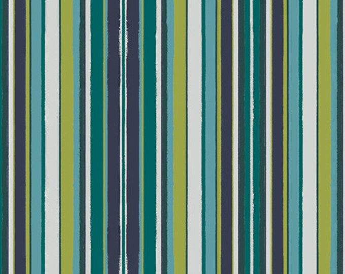 Art Gallery Fabric - Loved to Pieces - Marine Striped Flow - Gentle - Cotton Woven