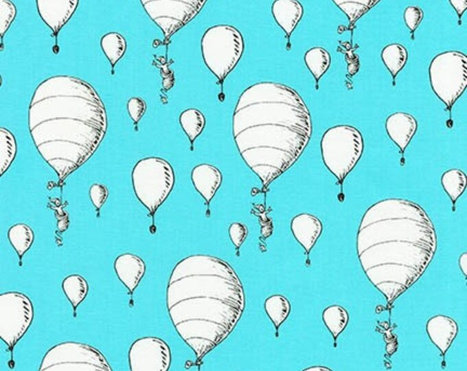 Robert Kaufman - Oh The Places You'll Go by Dr Suess Enterprises - Balloons on Aqua #ADE-18389-70 Cotton Woven Fabric