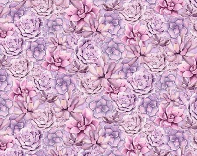 Wilmington Prints - Humming Along - Succulents - Purple - Cotton Woven Fabric
