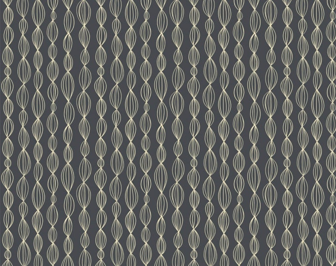 Camelot Fabrics - Petal Pushers by Elizabeth Silver - Charcoal Geo   #27180204-2 Cotton Woven Fabric