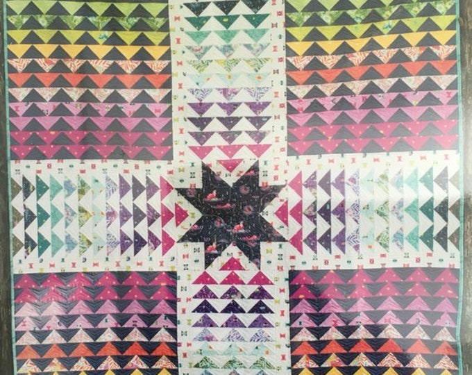 """Quilt Kit: Wayfinder by Tula Pink Featuring Spirit Animal -  64"""" x 76"""" - Top and Binding Fabrics included"""