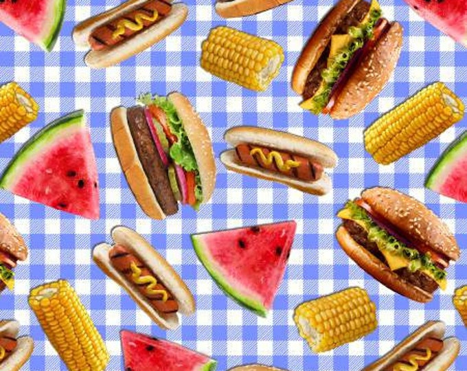 Picnic Food Cotton Woven by Timeless Treasures