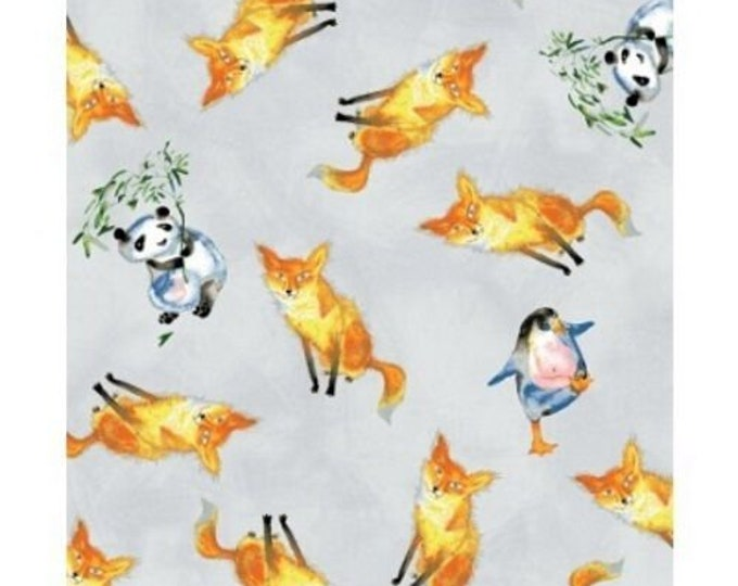 CLEARANCE - Clothworks Friends in Wild Places by Masha D'yans Y1640 5 Cotton Woven Fabric - 1 yard listing