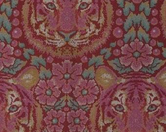 Tula Pink - Eden -  Crouching Tiger in Tourmaline Cotton Woven