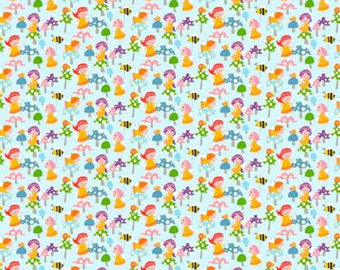 SALE !! Wings and Things, Fairy Garden Rainbow designed by David Walker for Free Spirit Fabrics