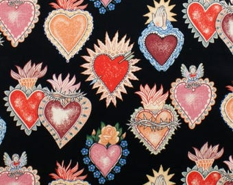 Alexander Henry Fabrics - Folklorico Alma y Corazon -8282d (Black) Cotton Woven