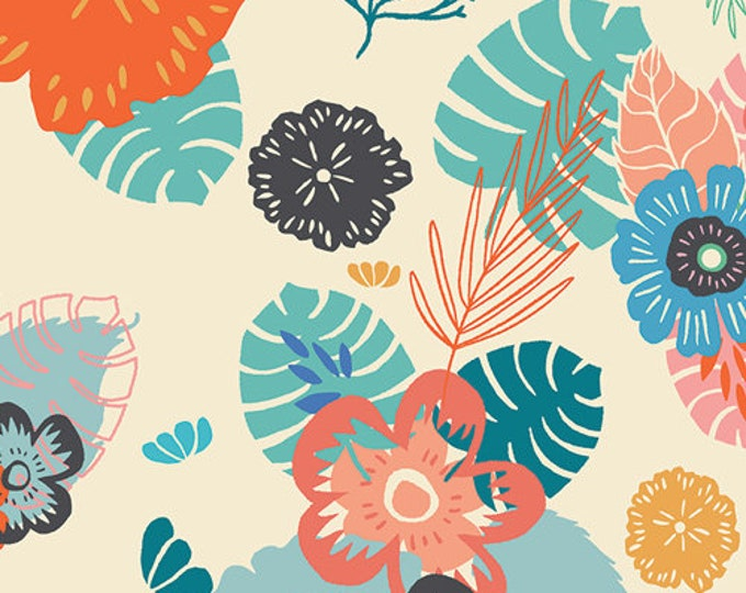 Art Gallery Fabric - Sirena  - Ocean Breeze Floret - Cotton Woven