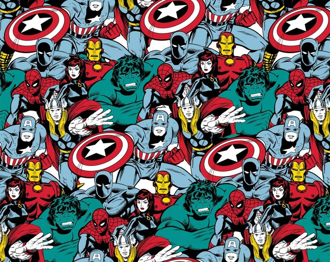Camelot - Licensed Marvel Comic Pop Power - Multi Marvel Power Heroes #13020513-1 Cotton Woven Fabric
