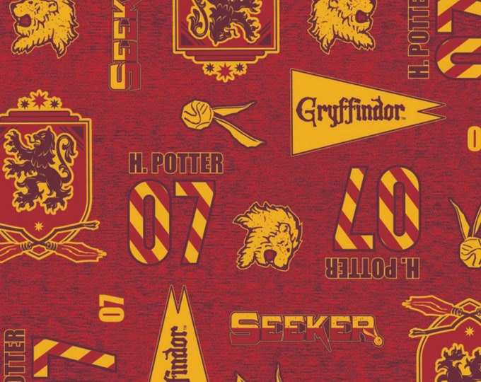 Camelot Fabrics - Licensed Wizarding World Harry Potter JK Rowling - Gryffindor Pride #23800243-1 Cotton Woven Fabric