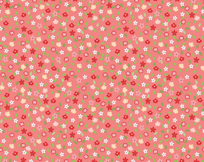 Vintage Adventure - Riley Blake -  - Tiny Floral Pink c7275 - Cotton Woven Fabric
