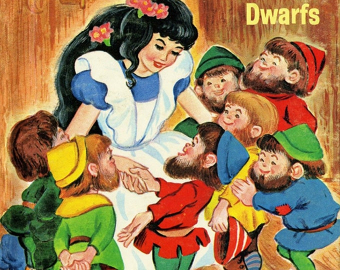 David's Textiles - Vintage Storybooks from Four Seasons - Snow White # BW01510C1 - Cotton Woven Fabric