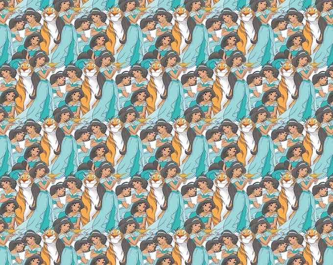 Disney Princess Jasmine Packed # 67834A620715  Licensed Cotton Woven Fabric - Springs Creative