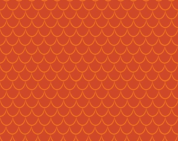 Dragon Scales Orange Cotton Woven Fabric by Ben Byrd for Riley Blake Design c7666-orange