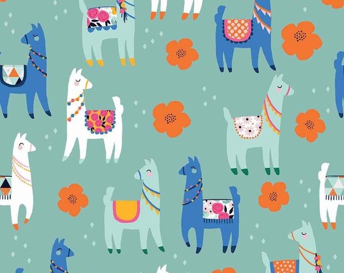 Llamas Novelty Mint C9009-MINT - My Mind's Eye for Riley Blake Fabrics