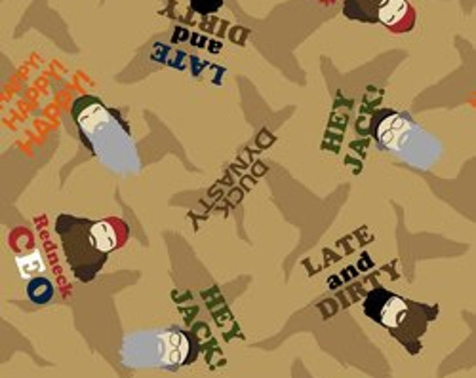 CLEARANCE -        Duck Dynasty Character Cotton Woven- Price is per yard !
