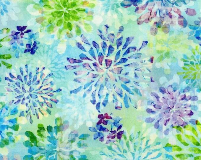 RJR Paper Garden Digital Cotton Woven Transparent Petals Seaglass