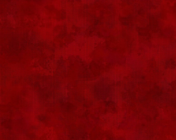 In the Beginning Fabrics - Dit Dot Evolution by Jason Yenter - Cranberry 1dde_10 Cotton Woven Fabric