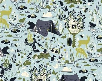 Tula Pink - Moonshine - Frivolity Sky Cotton Woven Fabric - OUT OF PRINT !