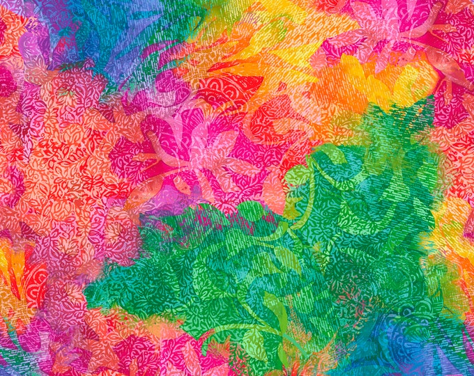 Quilting Treasures - Mirage - Multi Abstract 26995X Digitally Printed Cotton Woven Fabric