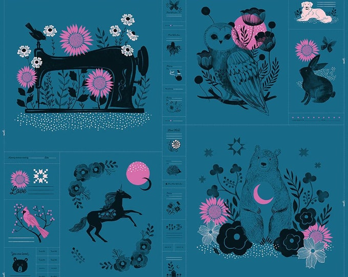 """Moda Fabrics - Crescent by Sarah Watts of Ruby Star Society - 36"""" x 44"""" PANEL Teal RS2001 12 - Cotton Woven Fabric"""