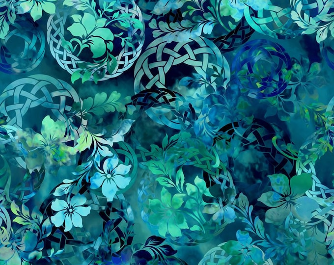 Diaphanous - Teal - Cotton Woven Fabric by Jason Yenter for In the Beginning Fabrics 3ENC-2