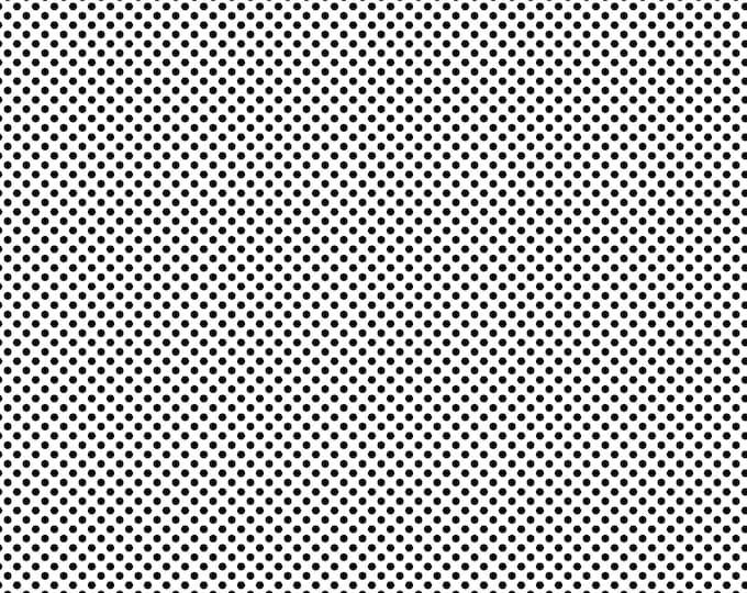 Northcott Fabrics - Girls of The World - Dots - Black on White  22337-10 Cotton Woven Fabric