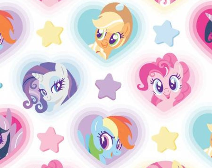 My Little Pony - Heart Toss - Cotton Woven Fabric - Springs Creative