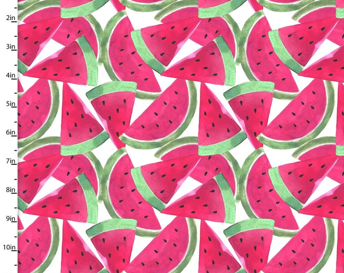 3 Wishes Fabric - Tropicale - Digitally Printed - Watermelon  13777 Cotton Woven Fabric