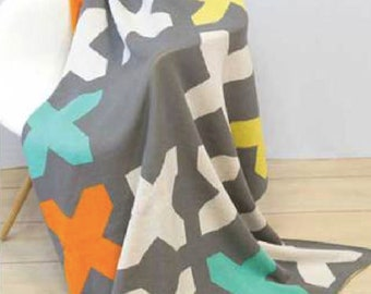 Fun Stuff - Moda Fabrics - SALE! Throw, Zen Chic, X Marks the Spot 100% COTTON Snuggle Blanket Size: 50 x 70. Was 64.99 Now 50