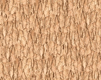 Quilting Treasures Fabric - Nocturnal Wonders by R.& B. Latham - Tan Tree Bark 27068E Cotton Woven Fabric