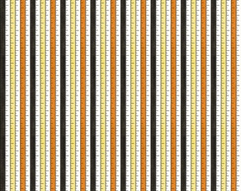 Riley Blake - Costume Makers Ball by Janet Wecker-Frisch - Tape Measure Multi #C8365R-MULTI Cotton Woven Fabric