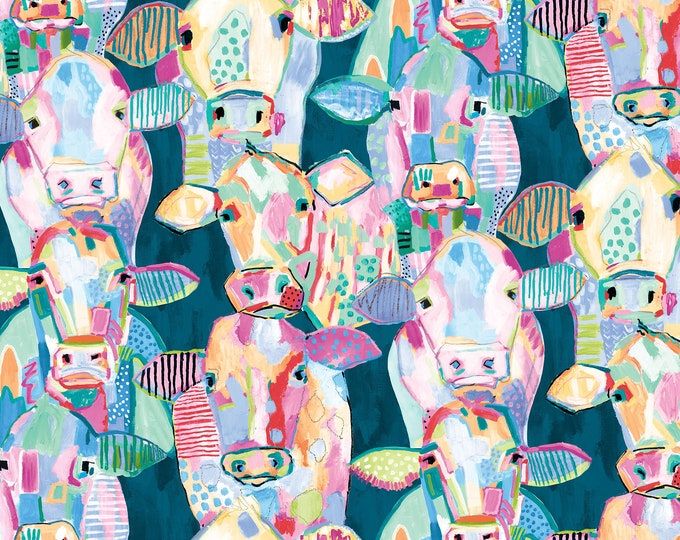 Blank Quilting - Udder Chaos by Kait Roberts - Cow Collage 9878-76 - Cotton Woven Fabric