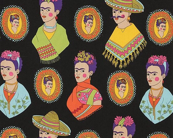 Alexander Henry Fabric - Fantastico Frida - Black - Cotton Woven Fabric