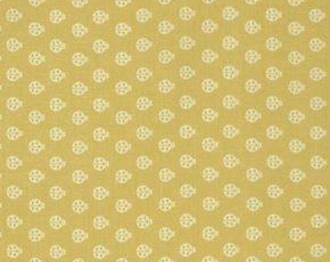 Tula Pink -  True Colors Ladybugs Mustard Yellow Cotton Woven Fabric