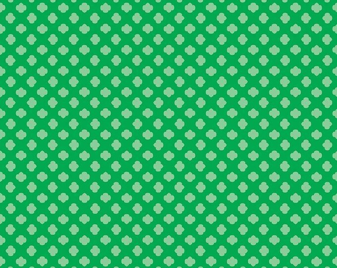 Girl Scout Trefoil Green Cotton Woven by Riley Blake Designs