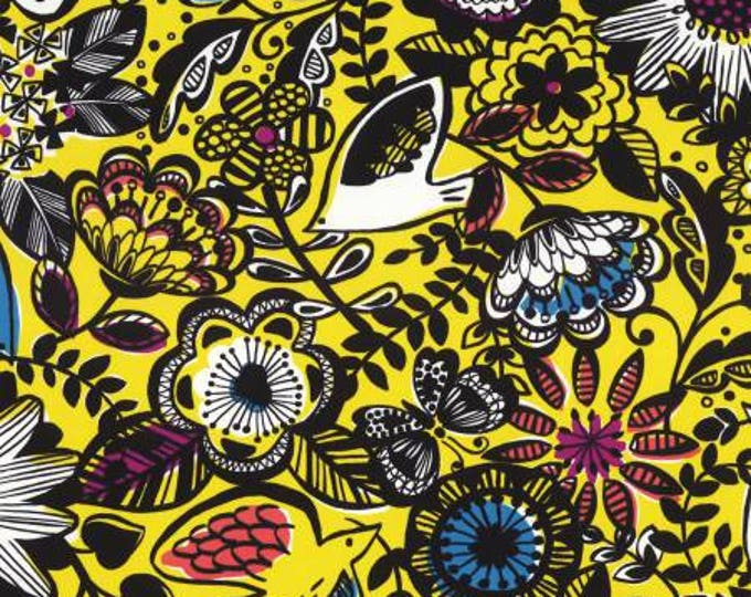 Lecien Fabric -  Floral Yellow Nylon Oxford