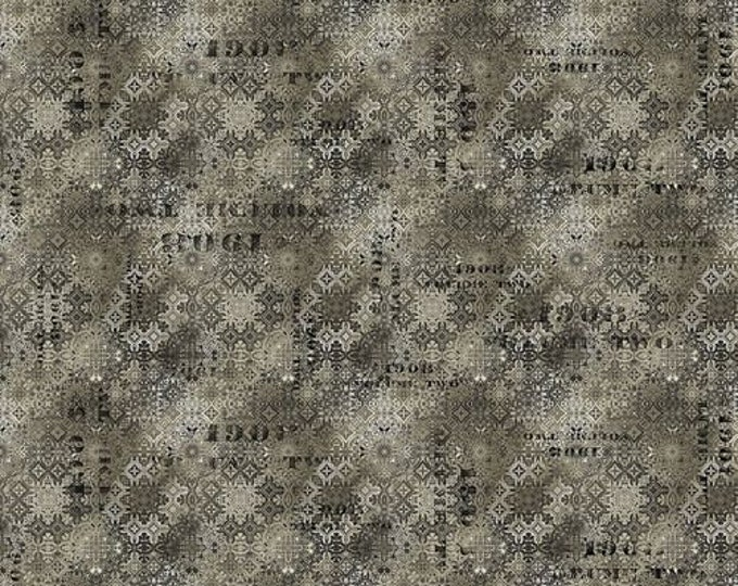 Free Spirit - Eclectic Elements - Abandoned by Tim Holtz - Faded Tile - Neutral PWTH129.NEUTRAL - Cotton Woven Fabric