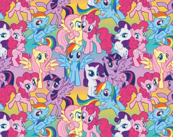 Springs Creative - OMBRE My Little Pony, Packed Ponies Cotton Woven Fabric