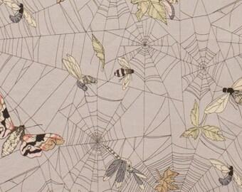 Alexander Henry, A Ghastlie Web Mist Gray Cotton Woven Fabric
