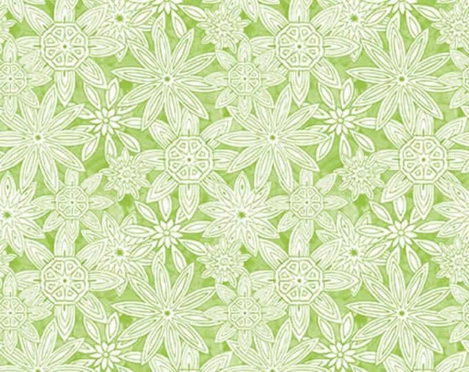 Blank Quilting - Mandala Tango - Green Stacked Mandalas #9654-60 Cotton Woven Fabric
