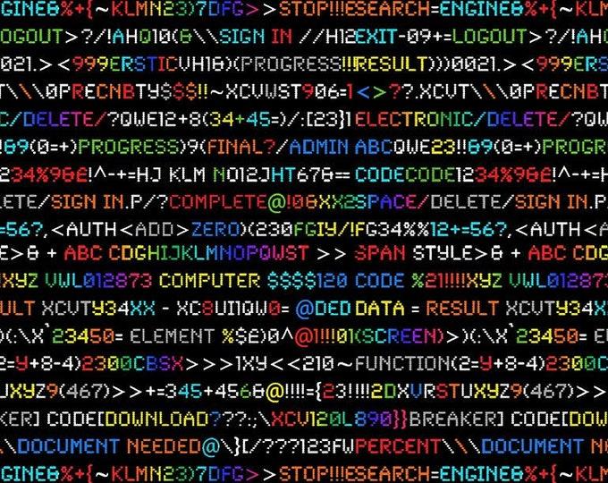 Timeless Treasures - Rainbow Coding Fun-C7505-Black - Cotton Woven Fabric