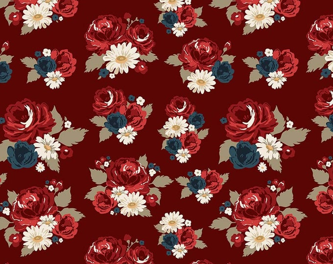 American Heritage Main Floral Red C8030 Cotton Woven Fabric